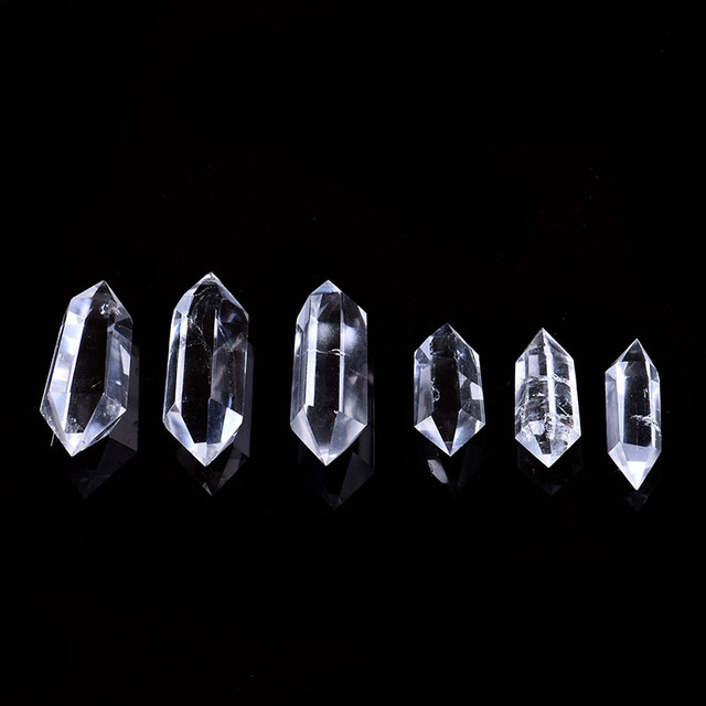 1PC natural white crystal crystal point mineral jewelry magic repair home home decoration study room decoration DIY gift 3