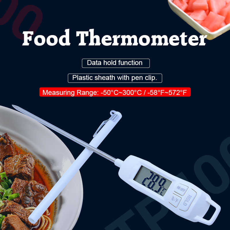 OUTEST TP400 digital kitchen food thermometer oven food cooking meat bbq probe thermomet ...