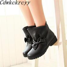 Женские ботинки Зимние новые модные женские с закругленным носком