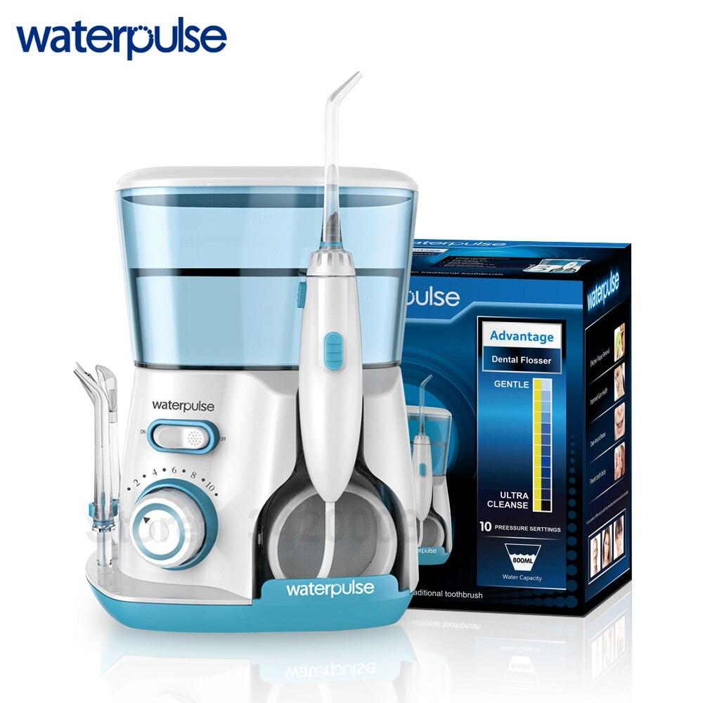 Waterpulse V300G Hydropulseur 5 pcs Conseils Dentaire Eau Flosser Eau Floss 800 ml Orale Hygiène Dentaire Flosser D'eau La Soie Dentaire v300