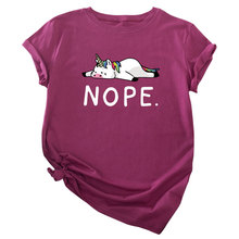 nope tshirt korean clothes japanese casual print o-neck harajuku 2019 aesthetic tee women graphic tees plus size