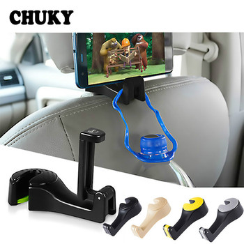 Car Back Seat Headrest Multifunction Hook Auto Holder Mobile Phone Frame for Renault Megane 2 3 Duster Honda Civic 2018 Accord image