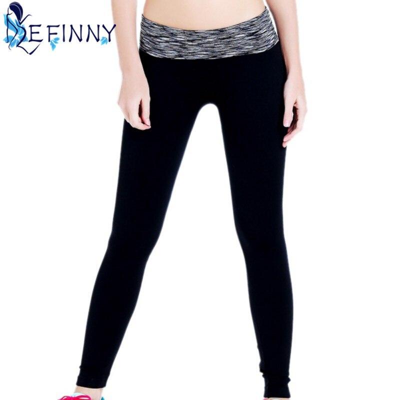 2018 дышащие тонкие уход за кожей быстросохнущая Фитнес колготки сегмент крашения брюки Для женщин середине талии лодыжки-Длина брюки