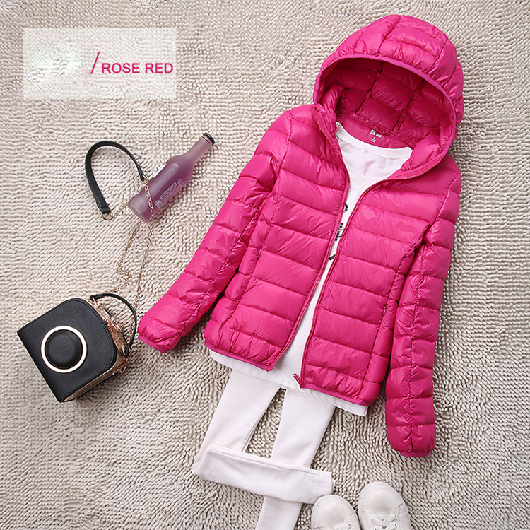 SEDUTMO Winter Plus Size 4XL Womens Down Jackets Short Ultra Light Duck Down Coat Hooded Puffer Jacket Autumn Parkas ED034 10