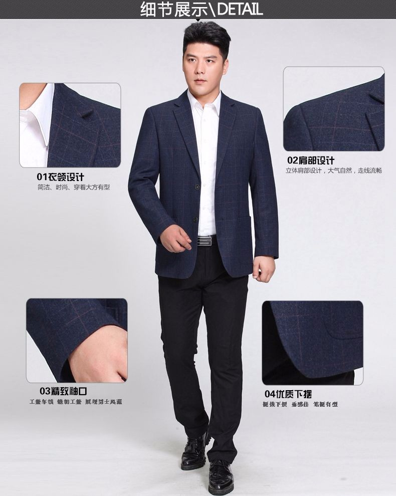 Man Paid Basic Blazer Gray Black Navy Blue Red Suit Jackets Men Casual Blazers Business Office Outfits Short Slim Fit Suit Blazers 2016 (4)