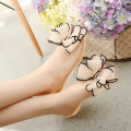Crystal Flat Heels Transparent Women Sandals Bowtie Women 2016 New Arrival Plus Size 35-40 Peep Toe Jelly Shoes,Beauty zapatos