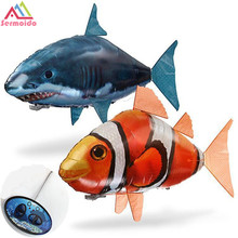 Remote Control Flying Air Shark Assembly Toy Nemo Dory Fish Robot Gift For Kids DBP192