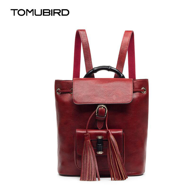 TOMUBIRD fashion superior leather designer bags famous brand women bags retro fashion 2017 new women genuine leather bagkpack