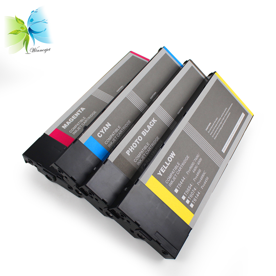 WINNERJET 220ml T6141 T6148 T6142 T6143 T6144 Compatible Ink Cartridge For Epson Stylus Pro 4400 4450 Printer in Ink Cartridges from Computer Office