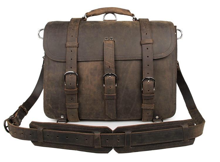 J.M.D Raw Buffalo Hide Leather Men Laptop Backpack Leather Large Size Travel Duffle Bag 16.5 buffalo bill cody