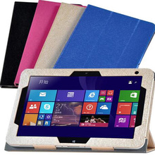 ocube 3-Folder Ultra Slim Magnetic Stand Smart Silk Print PU Leather Cases Cover For HP Elitepad 900 G1 1000 G2 10.1″ Tablet