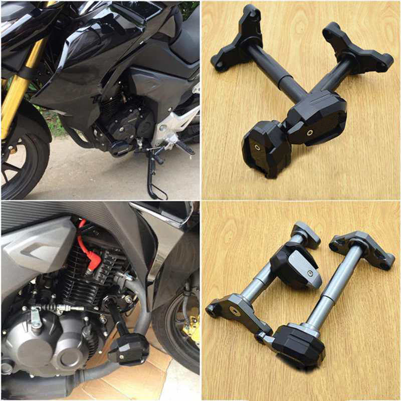 купить CNC Motorcycle Falling Protection Frame Sliders Crash Protector For HONDA CB190R CBF190R CBF190X по цене 5256.21 рублей