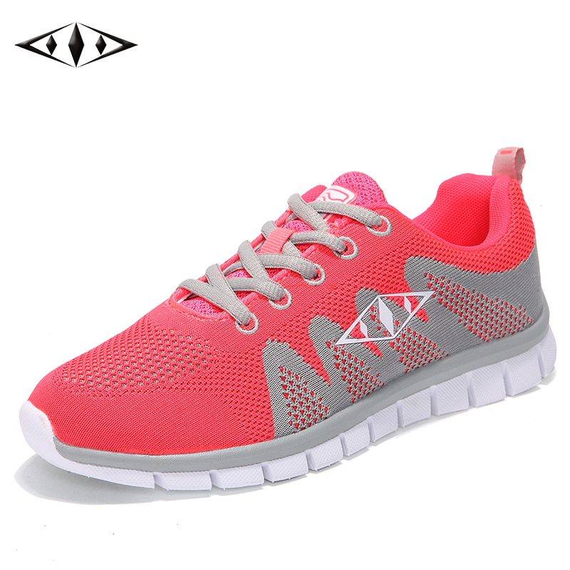 Indie Pop Nice Women Sneakers Autumn Spring Outdoor New Running Shoes Comfortable Sport Breathable Fly Wire Air Mesh fb010-3