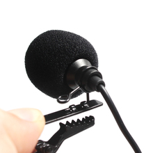 Microphone Audio-Mic Lavalier Omnidirectional for Game-Speech 1m Tie-Clip Waist-Bag Jack-Thread