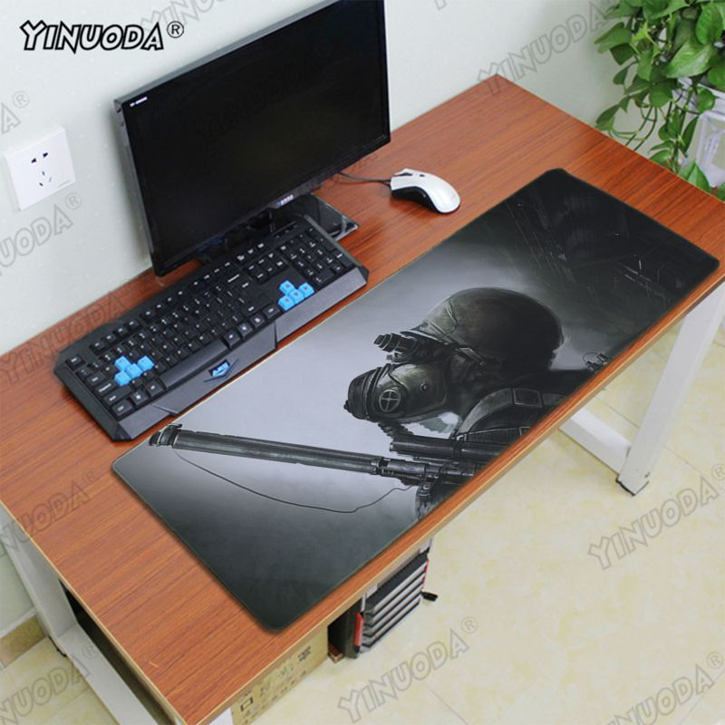 Yinuoda Metro 2033 Wallpaper Keyboards Mat Rubber mousepad gamer Desk Mat Good quality Locking Edge large Gaming Mouse Pad in Mouse Pads from Computer Office