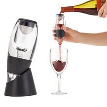 Moda Aireador de Vino Decantador Set Fiesta Familiar Hotel Wine Pourer de Aireación Rápida Jarra Mágica @ LS