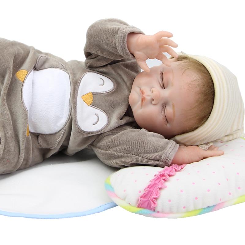 22 Inch Realistic Reborn Baby Doll Silicone Vinyl Body Sleeping Newborn Babies Boy Boneca That Look