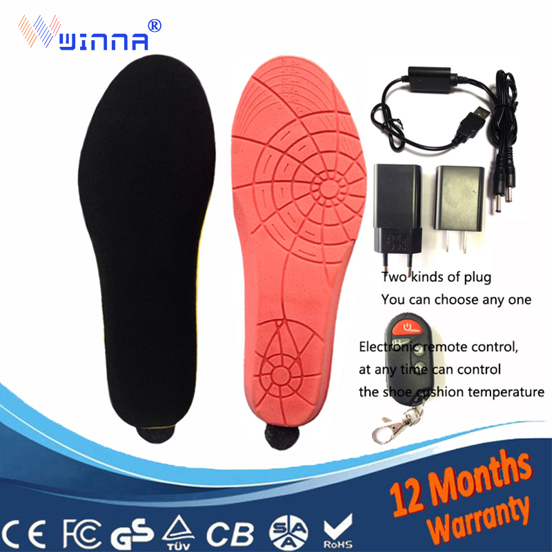 NEW USB Electric Powered Heated Insoles camping ski insoles For women s Shoes Boots insoles Keeping