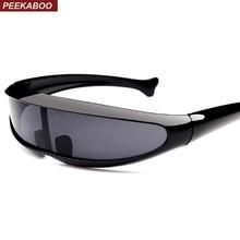 Peekaboo plastic cheap sunglasses one piece lens unisex red