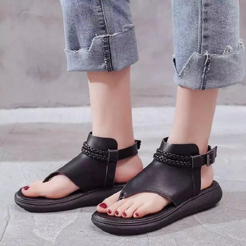 Ltarta Summer Women Sandals Open Toe Flip Flops Womens Sandles Thick Heel Women Shoes Korean Style Gladiator Shoes