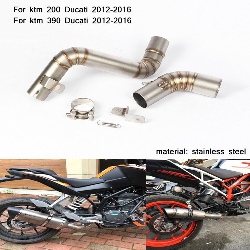 2012 2013 2014 2015 2016 Silp on for KTM 200 390 Motorcycle Stainless Steel Middle Connecting