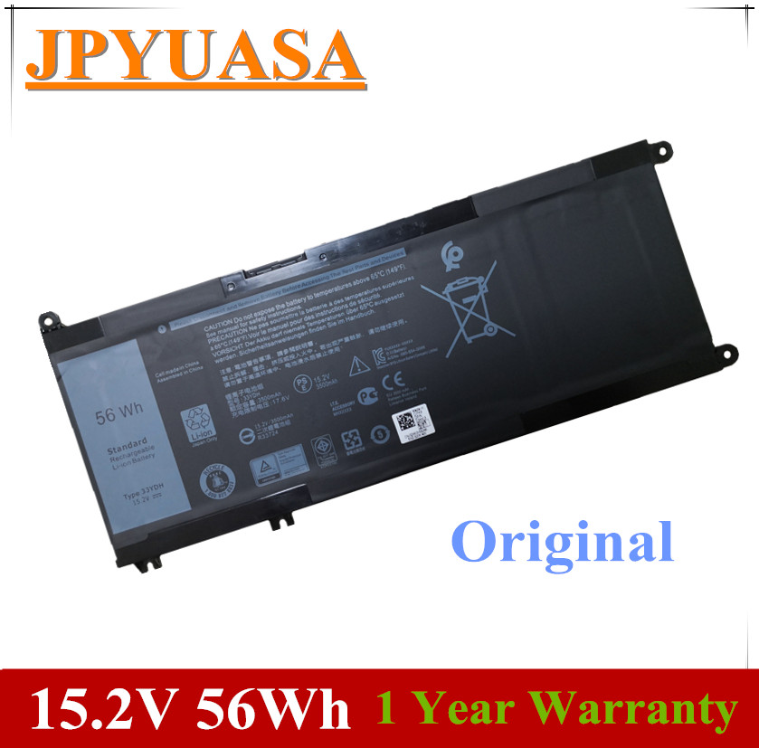 7XINbox 15.2V 56Wh 33YDH PVHT1 99NF2 Laptop Battery For <font><b>Dell</b></font> Inspiron 15 7577 17 7773 7778 7779 7786 3579 5587 7588 <font><b>3590</b></font> 3779 image