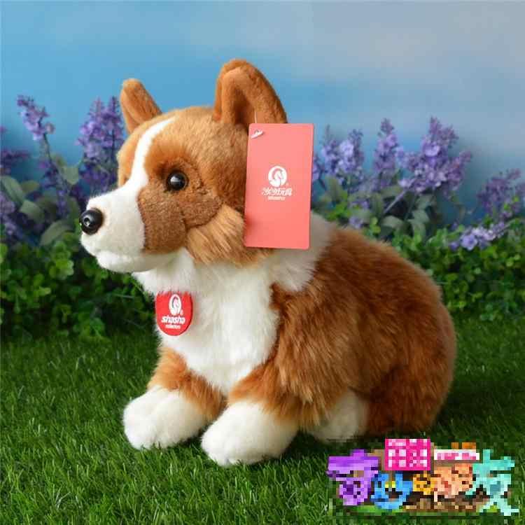 Милые вельш корги пемброк плюшевые игрушки Моделирование корги мягкая игрушка Щенок собака куклы детские игрушки для девочек подарок на день рождения