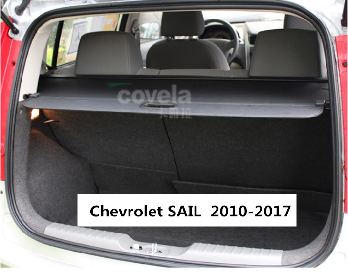 Car Rear Trunk Security Shield Cargo Cover For Chevrolet SAIL 2010.2011.2012.2013.2014.15.2016.2017 Trunk Shade Security Cover