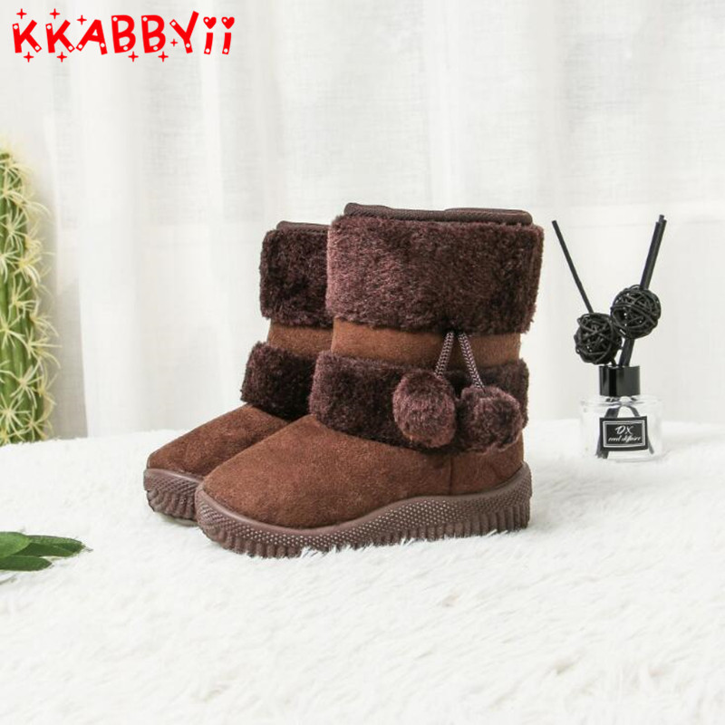 Winter Baby Boots 2018 New Boys Girls Fashion Snow Boots Cotton Thick Warm Shoes Ultralight Kids Ankle Boots Child 5 Color