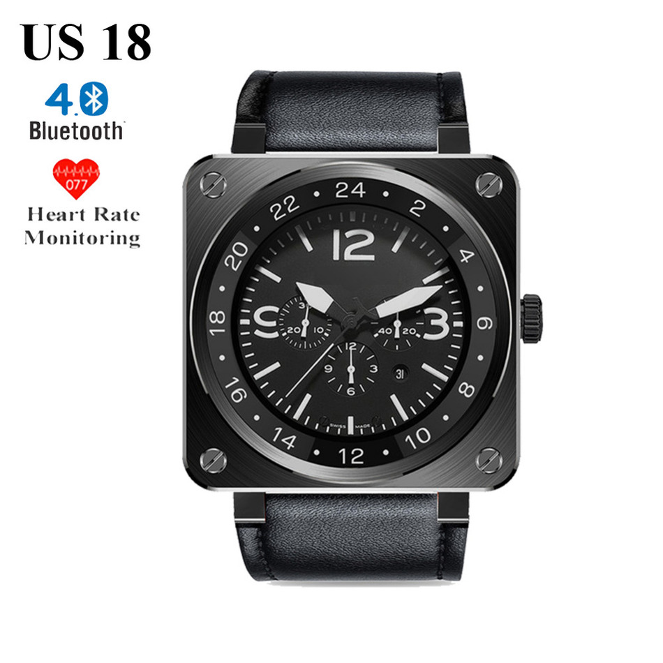 US18 Bluetooth Smart Watch Heart Rate Monitor Pedometer Fitness Tracker for iPhone 5s 6s 7 for Samsung S6 S7 Android Smart Watch