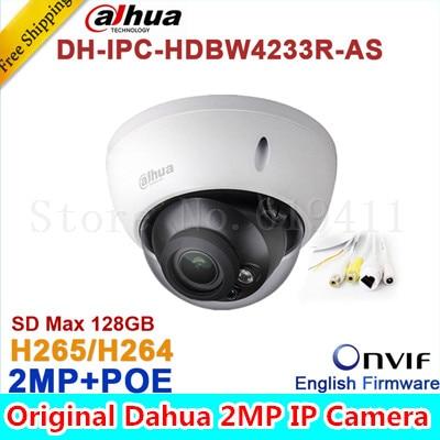 Wholesale Dahua DH-IPC-HDBW4233R-AS 2MP IR Mini Dome Network IP Camera IR POE Audio SD card Stellar H265/H264 IPC-HDBW4233R-AS wholesale dahua dh ipc hdbw4233r as 2mp ir mini dome network ip camera ir poe audio sd card stellar h265 h264 ipc hdbw4233r as