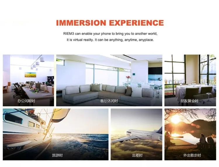 New Ritech III 3D VR Glasses RIEM3 Virtual Reality Head Mount Google Cardboard Oculus Rift DK2 Box for 4.7 ~ 6.0 Inch SmartPhone (8)