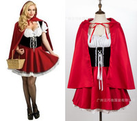Halloween Adult Little Red Riding Hood Costume Fancy Cosplay HALLOWEEN Carnival Dress S M L XL