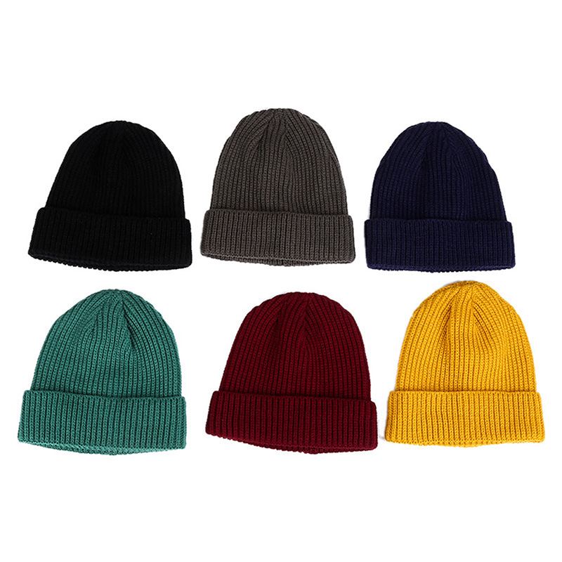 acbe8791ba5 2018 Fashion Women And Men 1pc Striped Yellow Beanie Cap Knitting Autumn  Winter Soft Warm Skiing Hat 6 Colors-in Skullies   Beanies from Apparel  Accessories ...