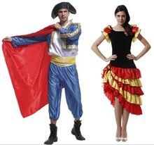 Halloween Cosplay Costumes Adult Party Spanish Matador Costume Tap Skirt Hot Dance Rumba