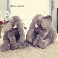 DecorUhome New Animal GIant Elephant Stuffed Baby Sleeping Plush Toys Pillow Bedroom Sofa Decoration Cute Soft