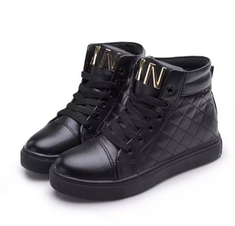 2016autumn new high quality pu womens High help shoes fashionable font b women b font flats