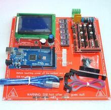1pcs Mega 2560 R3 + 1pcs RAMPS 1.4 Controller + 5pcs DRV8825 Stepper Driver Module +1pcs LCD 12864 +1pcs MK2B for 3D Printer kit