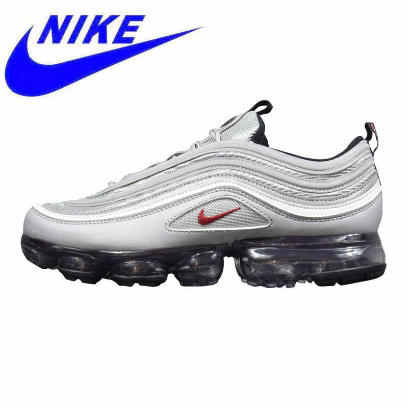 6a9da434fe Nike Air VaporMax 97 Silver Bullet Men's and Women's Running Shoes,  Shock-absorbing Breathable
