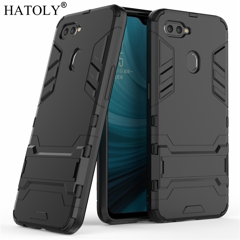 the best attitude d1a79 53c2f US $2.63 38% OFF|HATOLY For Armor Case OPPO A7 Case Shockproof Robot  Silicone Rubber Hard Back Phone Cover For OPPO A7 A 7 CPH1901-in Fitted  Cases ...