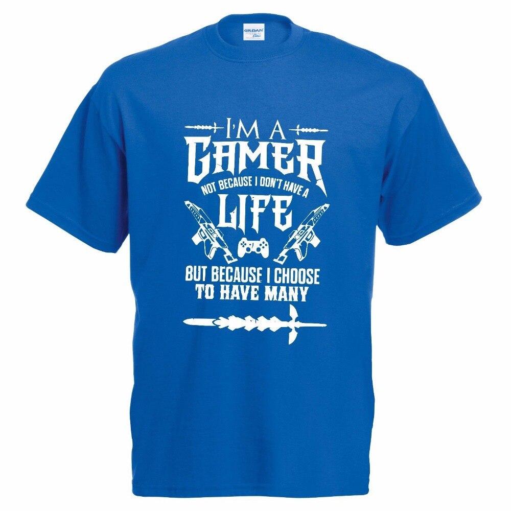 Natural Cotton Printed O-Neck T Shirt Harajuku Tops Tees Gamer For Life Tee Shirt Kind Of Lifestyle Video Game casual T Shirt