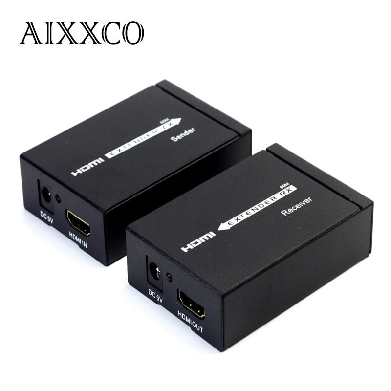 aixxco hd 1080p hdmi hdmi extender tx rx 60m with. Black Bedroom Furniture Sets. Home Design Ideas