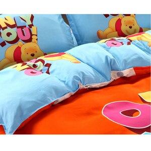 Image 4 - Juego de funda de edredón de Winnie de Disney, ropa de cama de tamaño individual, para niños, decoración de dormitorio, 3 o 4 piezas