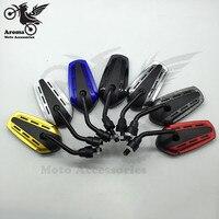7 farbe racing motorrad rückspiegel ATV motocross teile 8mm 10mm universal motorrad rückspiegel roller zubehör-in Seitenspiegel & Zubehör aus Kraftfahrzeuge und Motorräder bei