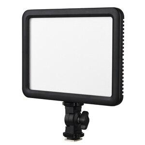 Image 3 - Godox ultra fino ledp120c 3300k ~ 5600k brilho ajustável estúdio de vídeo lâmpada luz contínua para câmera dv filmadora + bateria