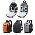 Bolsas para cámaras dslr para canon nikon compacto pequeño acolchado mochila bolsa con la cubierta del tiempo video foto bolsa de bolsas de deporte a prueba de golpes