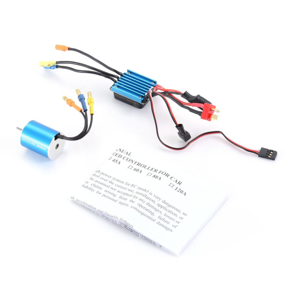 2430 7200KV Sensorless Brushless Motor with 25A Brushless ESC Electric Speed Controller for 1/16 1/18 RC Car Truck Accer & Parts dual mode drive brushless motor speed controller esc