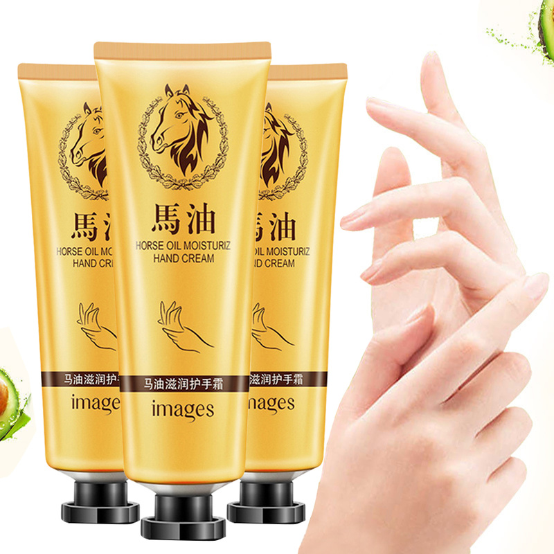 New Hot Sale Horse Oil Repair Hand Cream Anti-Aging Soft Hand Whitening Moisturizing Nourishing Hand Care Lotion Cream  TSLM1