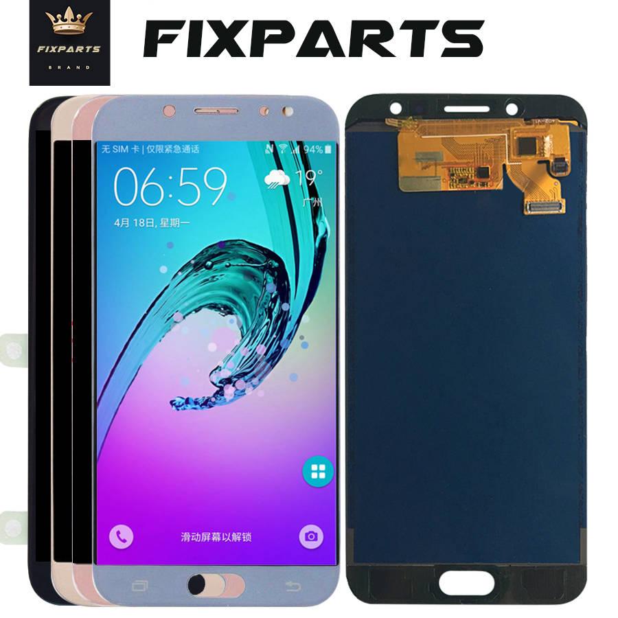 Pour Samsung Galaxy J7 Pro 2017 LCD J730 J730F écran LCD + écran tactile numériseur assemblée remplacement peut ajuster la luminosité