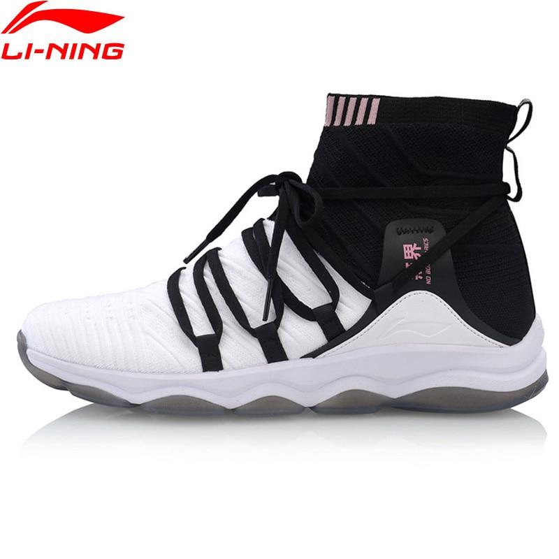 Li Ning Women NO BOUNDARIES Cushion Training Shoes Mono Yarn Wearable LiNing Fitness Sport Shoes Sneakers